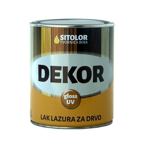 DEKOR GLOSS UV – Lak Lazura s Voskom 0,75L