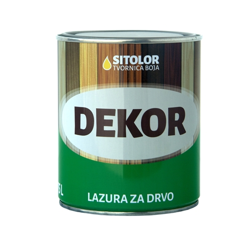 DEKOR – Lazura za Drvo 0,75L
